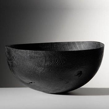 burnt wood bowl
