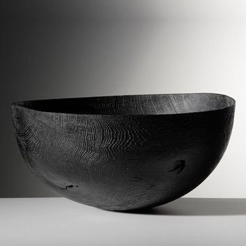 burnt wood bowl