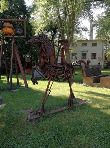 A Don Quijote szobor...