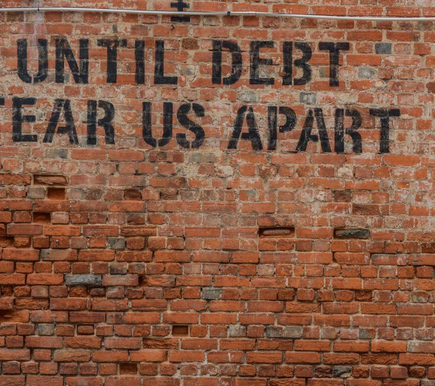 Money on my mind // Until debt tear us apart
